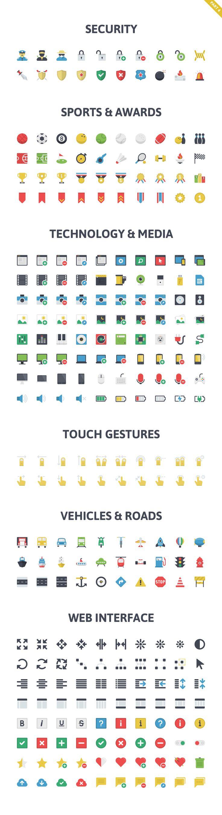 Flatilicious Icons by Pixel Bazaar on Creative Market