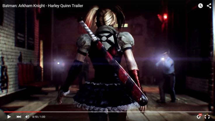 screenshot: Arkham Knight Harley Quinn trailer (1)