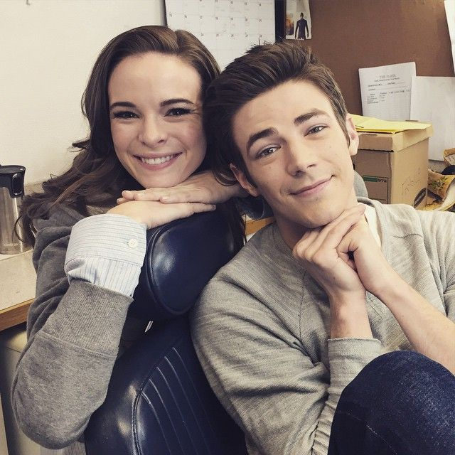 Grant Gustin and Danielle Panabaker bein all cute