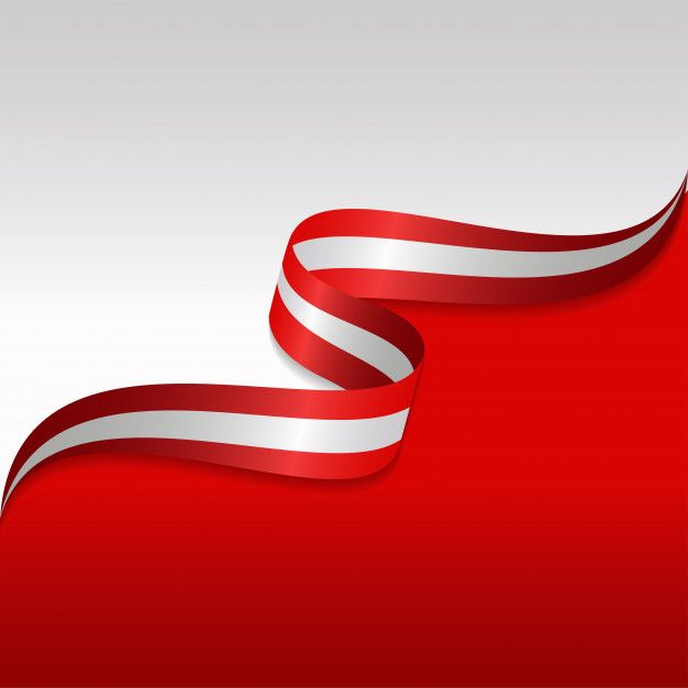 Abstract Wavy Flag Of The Austrian With Ribbon Style Wavy Flag Paper Background Design Background Design Vector