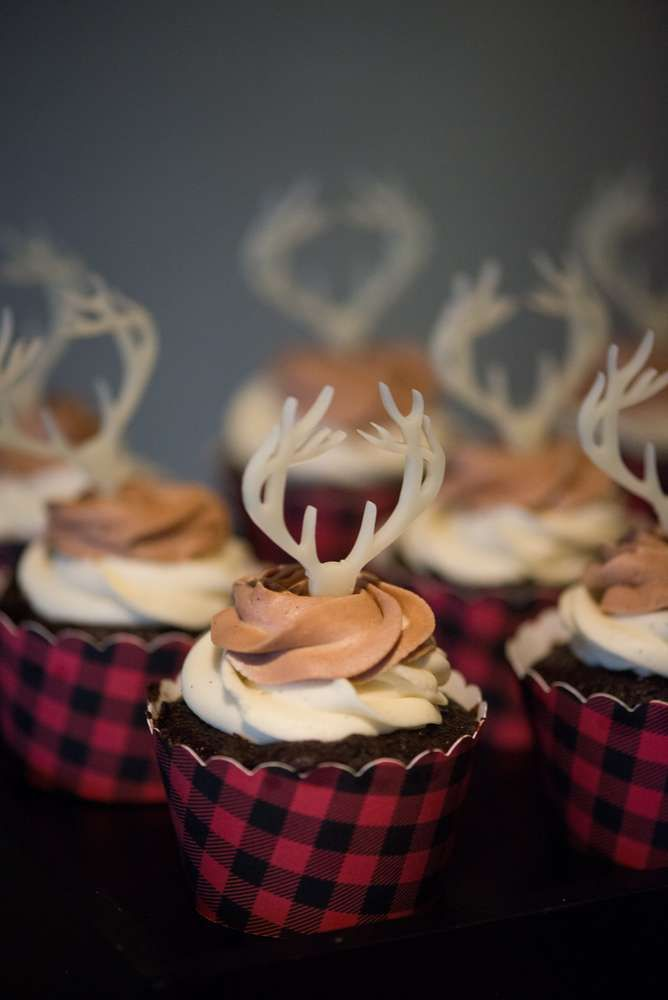 Rustic holiday party cupcakes! See more party planning ideas at CatchMyParty.com!