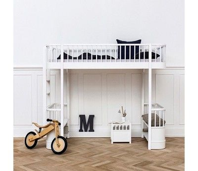 Wood hvit høyseng fra Oliver Furniture