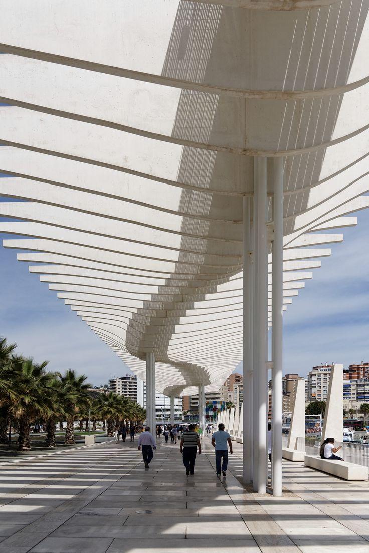 Hafen, Promenade, Malaga, Spain