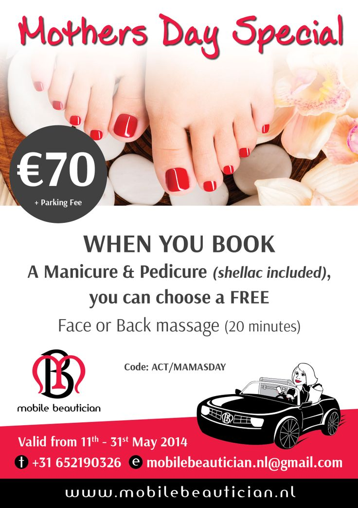 The Mobile Beautician Mothers Day promo