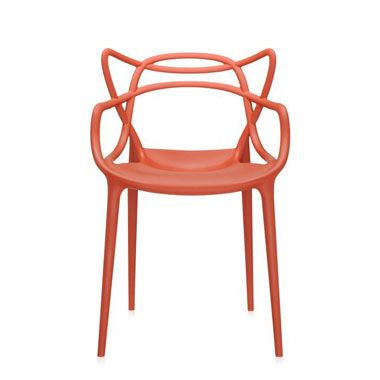 Kartell Masters Chair Set Of 2 Rust Orange