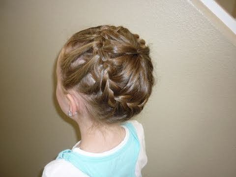 For more hairstyle ideas, visit our site:  http://princesshairstyles.com    This inside-out bun, or never ending bun with a french braid is a fun and unique hairstyle.  You could make one single bun, or double them up on both sides of her head forming cute pigtail buns.  They key is taking hair from the ponytail and adding to the french braid pl...