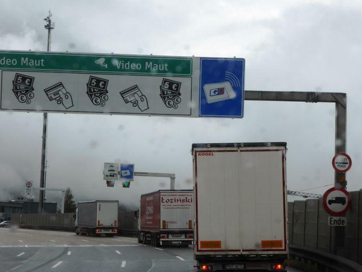 GO-box betalstation motorväg i Österrike