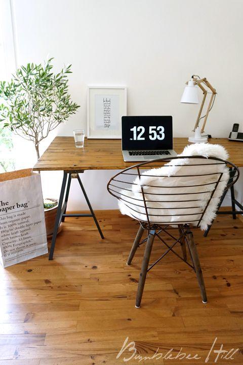 Bumblebee Hill: Mein Home-Office-Look - Upcycling No6 Schreibtischplatte