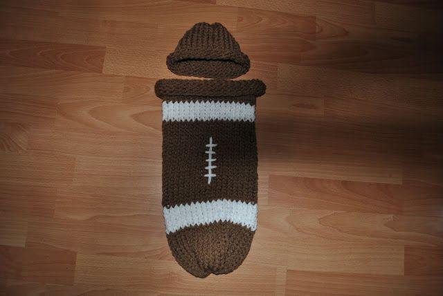 Loom Knit Baby Hat Tutorial : Hello world tutorial football cuddle sac loom knitting