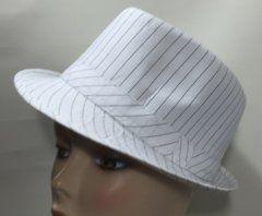 Cotton Trilby - White Pinstripe 58
