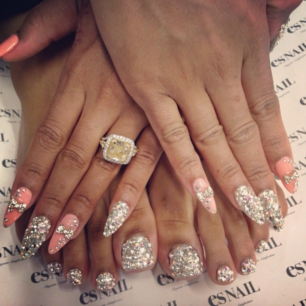 Blac Chyna's nails by @esnail_la | Nail designs | Pinterest | Toe ...