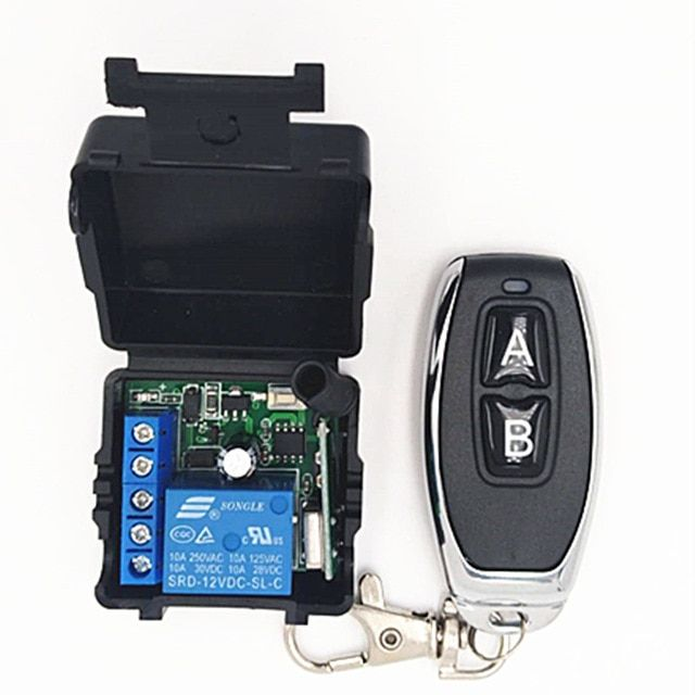 433mhz Universal Wireless Remote Switch Dc 12v 1ch Relay Receiver Module And 3 Pieces Rf Transmitter 433 Mhz Remote Controls Remote Controls Transmitter Remote