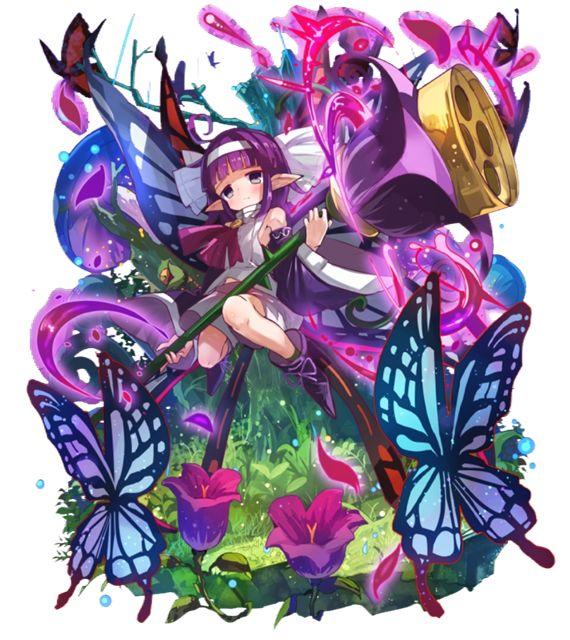 「釣鐘森の黒蝶」パピヨン