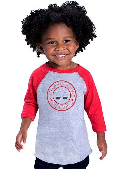 Rockford Peaches Toddler Baseball Shirt