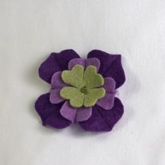 Mor Yeşil Keçe Çiçek Broş  - #tasarim #tarz #mor #rengi #moda #hediye #ozel #nishmoda #purple #colored #design #designer #fashion #trend #gift