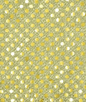 3mm+Gold+Sequin+Fabric