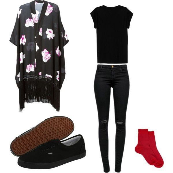 Tyler Joseph inspired outfit |-/ by rebekah-wise on Polyvore featuring polyvore, fashion, style, Isabel Marant, Gat Rimon, J Brand, Maria La Rosa, Vans and clothing