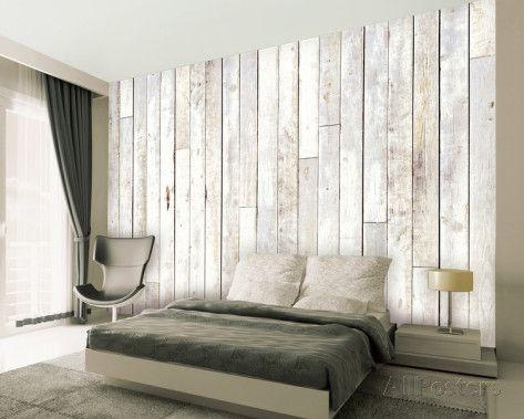 Whitewash Wood Wallpaper Mural Wallpaper Mural