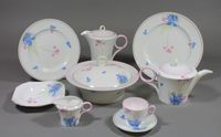 Lot 581 - A 1930's Shelley 50 piece tea, coffee and dinner service, decorated with spring flowers, C12312, (1 cup f) together with a 1930's Shelley price list £200-300
