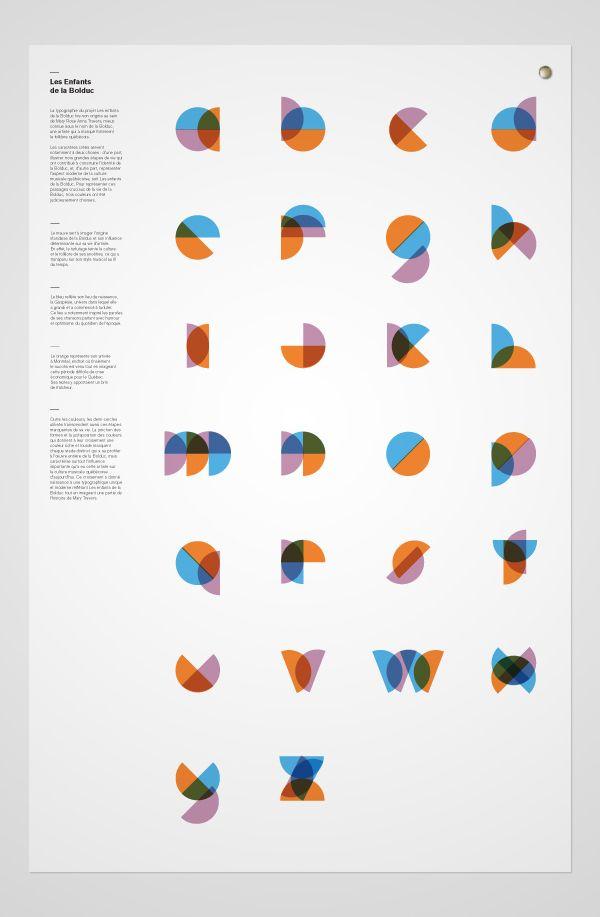 An alphabet made of semi-circles! Les-enfants-de-la-Bolduc
