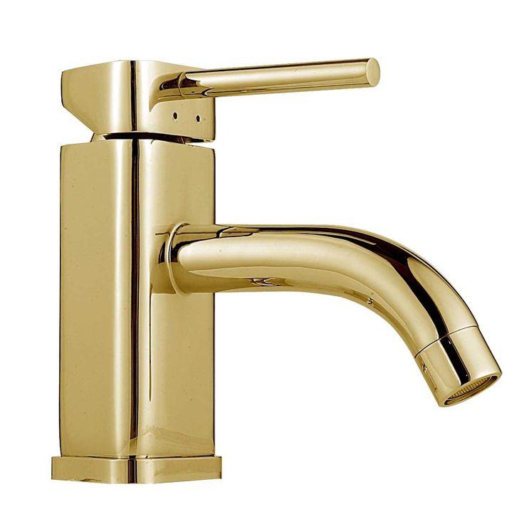 bathroom faucet gold pvd triangular single hole 1 handle supply