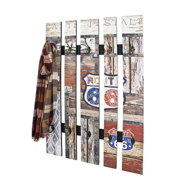 Garderobenpaneel Ofseka im ROUTE 66 Design 100 cm hoch