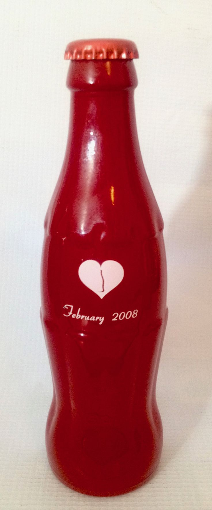 """Botella vidrio, Febrero """"calendario 2008"""" México."""