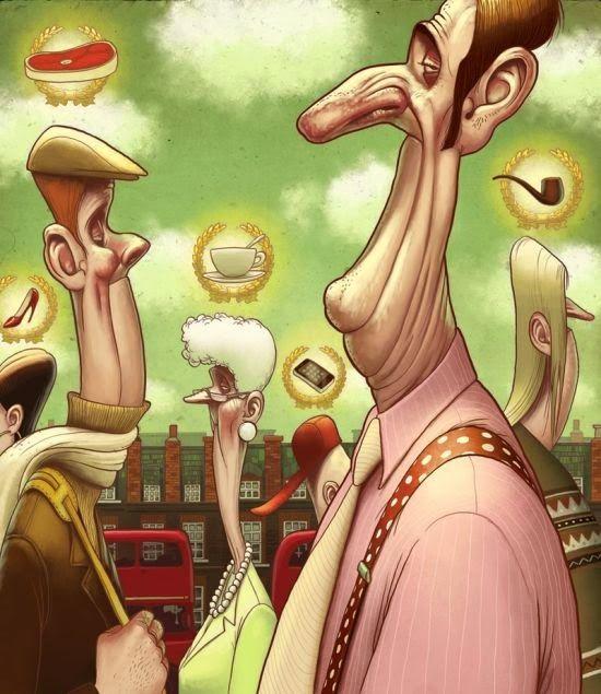 As divertidas e caricaturais ilustrações de Denis Zilber - Esnobes