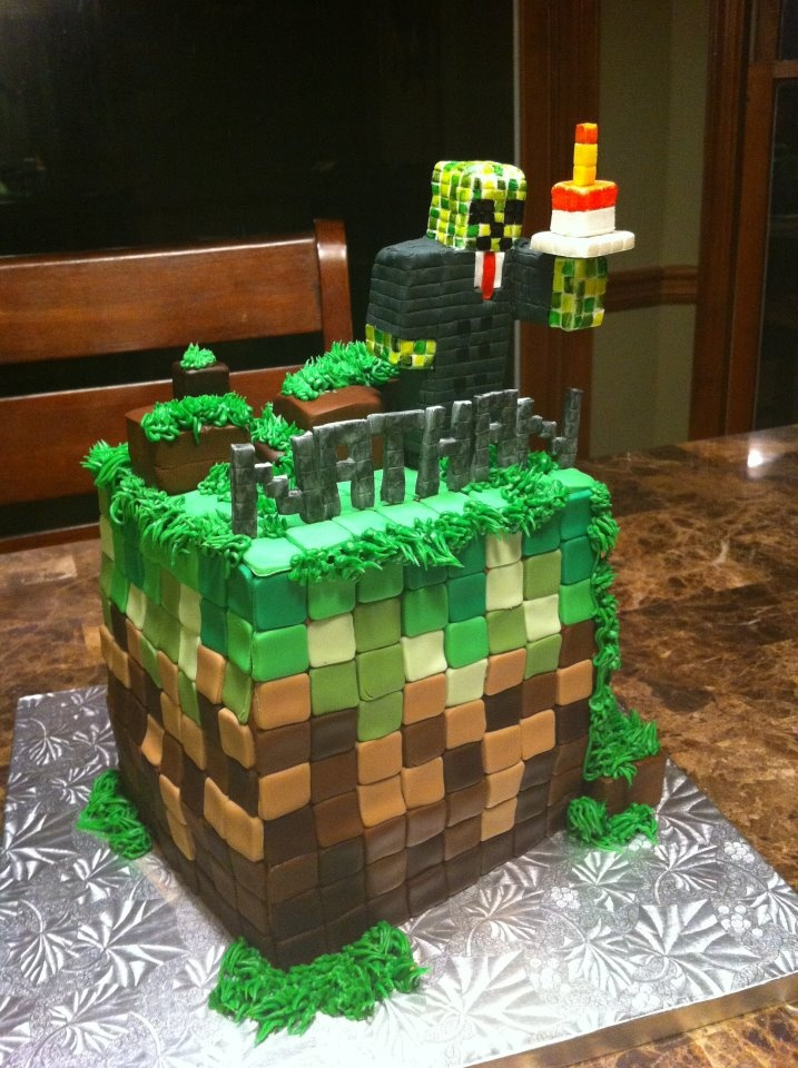 Minecraft Cake Minecraft Cakes Pinterest Suits