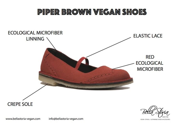 Piper ecological vegan shoes red ecological microfibre crepe sole