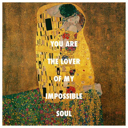 """sufjanstevensarthistory: """"Gustav Klimt, The Kiss (1918) / Sufjan Stevens, Impossible Soul (2010) """""""