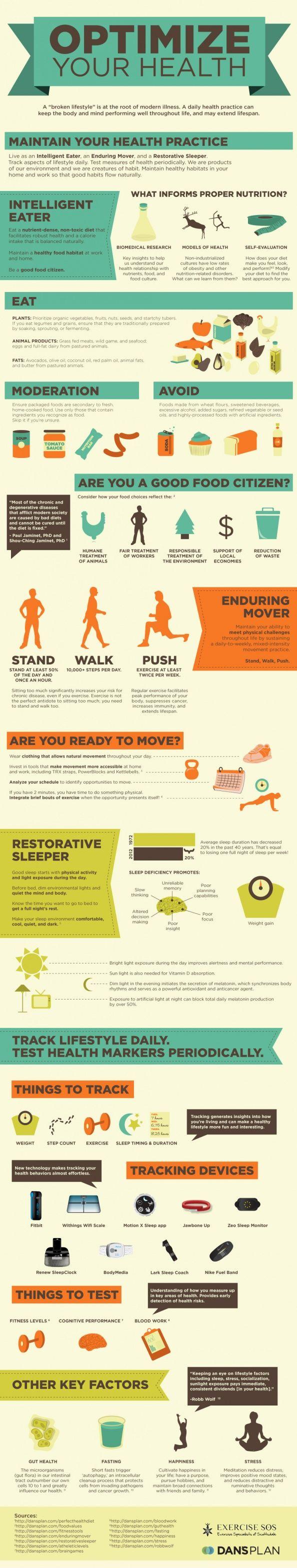 Optimize your heath; tips on #exercise, #eatright, sleep habits, and brain health