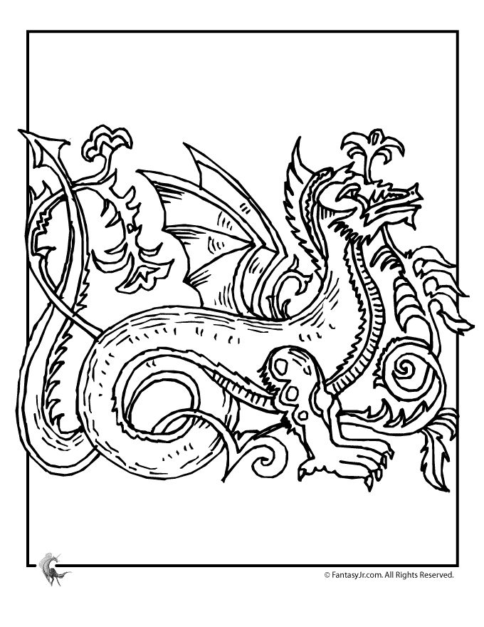 Celtic Dragon Coloring Pages celtic-dragon-coloring-3 – Fantasy Jr.