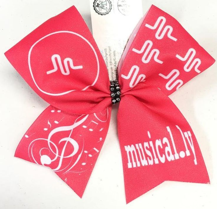 Bows by April - musical.ly (musically) Sublimated Cheer Bow, $15.00 (http://www.bowsbyapril.com/musical-ly-musically-sublimated-cheer-bow/)
