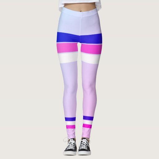 Sporty fresh old-striped leggings : Miami