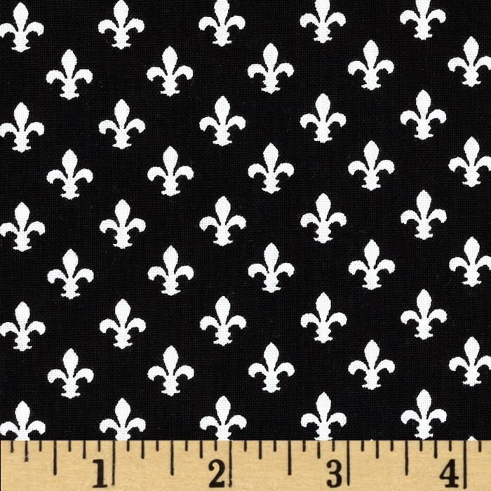 Michael Miller Petite Paris Petite Fleur De Lis Black from @fabricdotcom From Michael Miller, this cotton print is perfect for quilting, apparel and home decor accents. Colors include black and white.