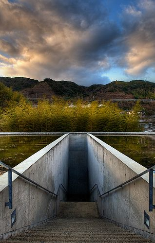 The Entrance, Honpuku-ji temple, Awaji, Hyogo, Japan. Work of Tadao Ando