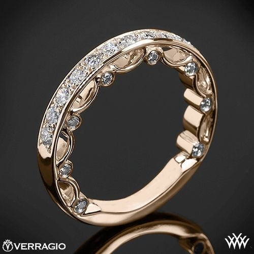 Verragio PAR-3042W Pave Diamond Wedding Ring
