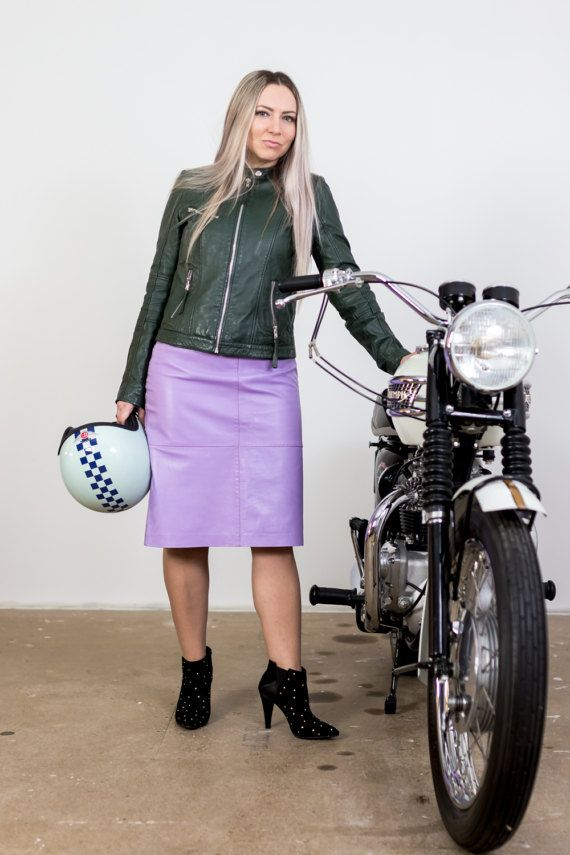 Women's Leather Skirt Pencil Leather Skirt High by woolpleasure