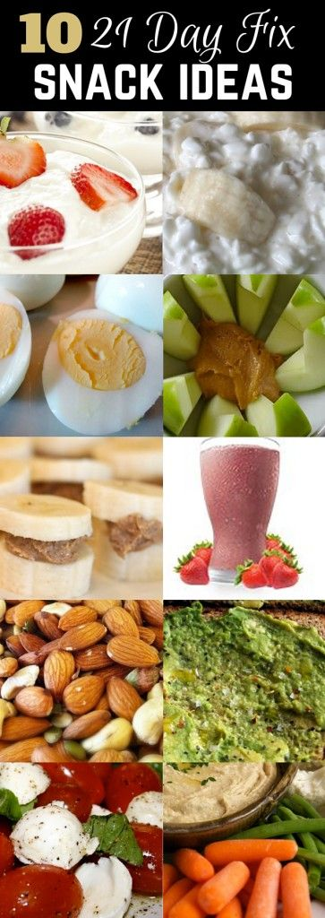 Check out this article for 10 easy and QUICK 21 Day Fix Snack ideas | 21 day fix…