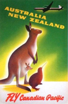 Australia Travel Poster (1956) - Canadian Pacific Railroad Travel Posters