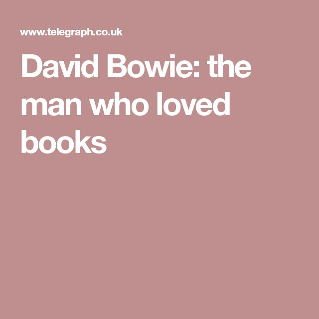 David Bowie: the man who loved books