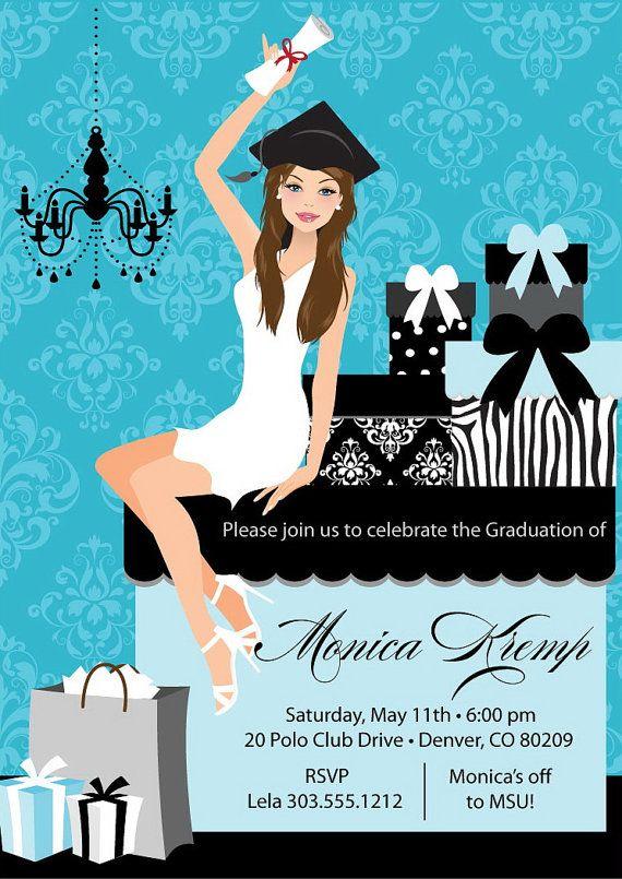 55 best graduation announcements images on pinterest graduation beautiful graduate graduation party invitations diy printable grad announcement digital file filmwisefo