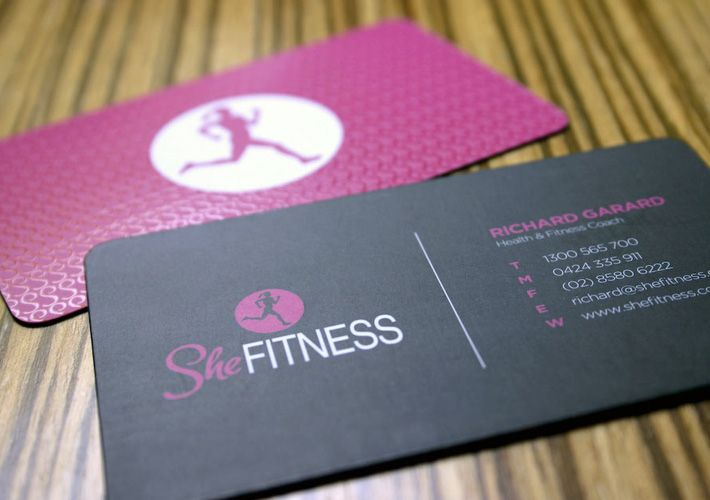 Fitness Business Cards Design She fitness; she fitness   Puppies ...