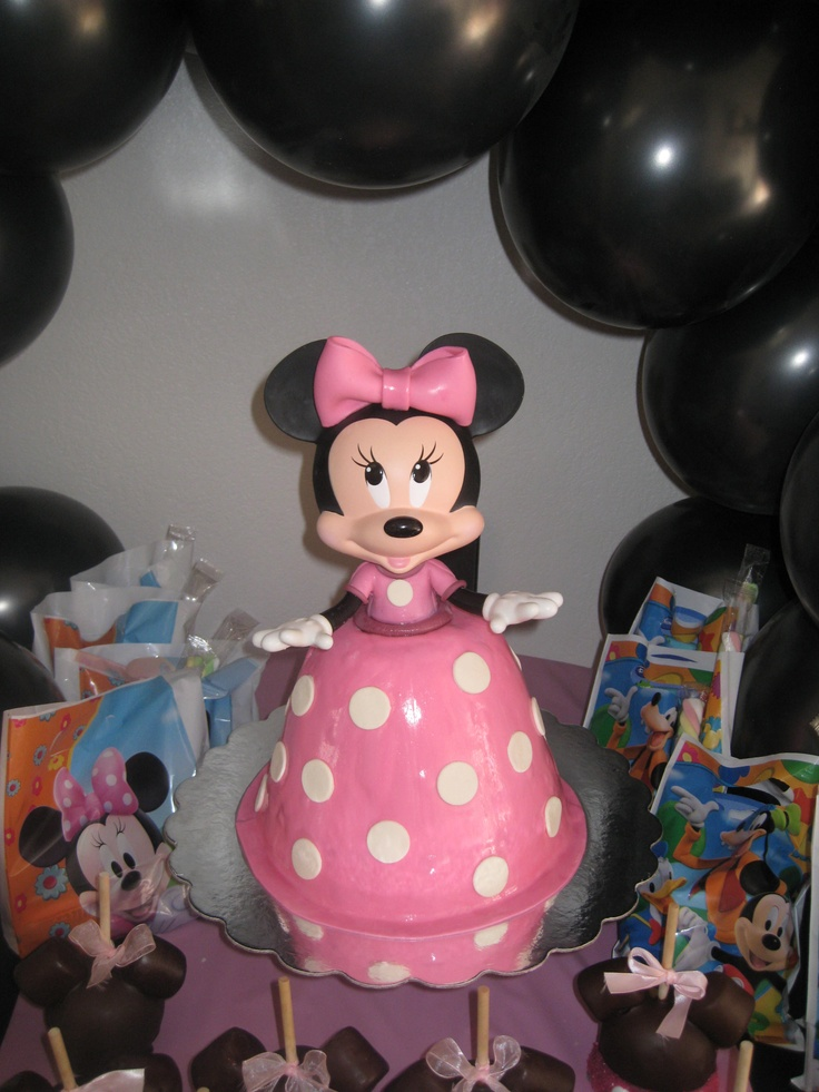 Minnie Mouse Doll Cake My Parties Decorations