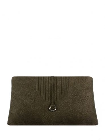 An extremely elegant leather clutch bag with shoulder belt. The bag is brown in color. From the inside it is decorated with quilted lining in silver. The whole suspended on a long leather belt. Each original handbag GOSHICO id is in the middle of the tab with our logo. PRICE: 235.29 € http://goshico.com/en/duplicate-1-duplicate-1-1155.html