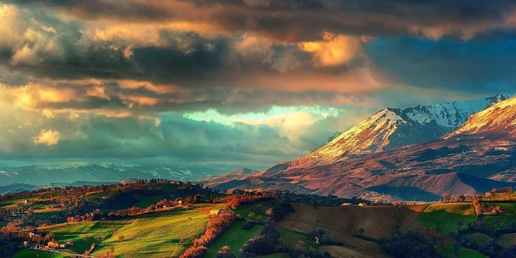 Sunrise Mountains Clouds Twitter Cover & Twitter Background ...