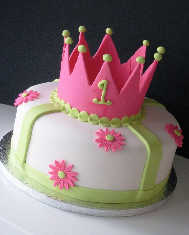 Bright princess crown cake