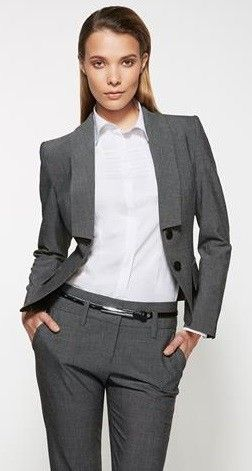 Ladies Grey Cropped Jacket(60315)…