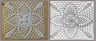 Squares Ou Quadrados De Crochê